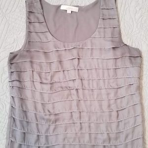Loft gray blouse/shell